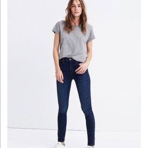 "Petite 10"" High-Rise Skinny Jeans in Hayes Wash 26"